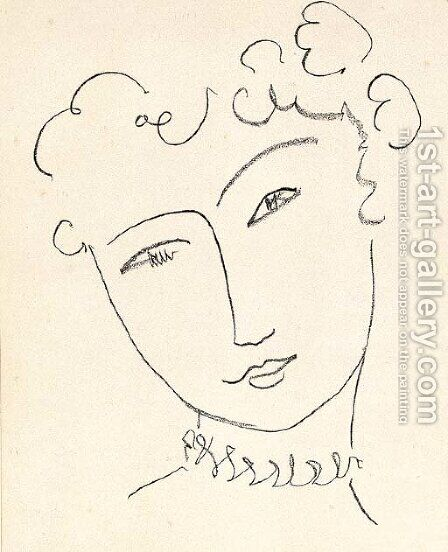 Pompadour by Henri Matisse - Reproduction Oil Painting