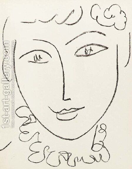 Portraits, Monte Carlo, Andre Sauret, 1954 by Henri Matisse - Reproduction Oil Painting