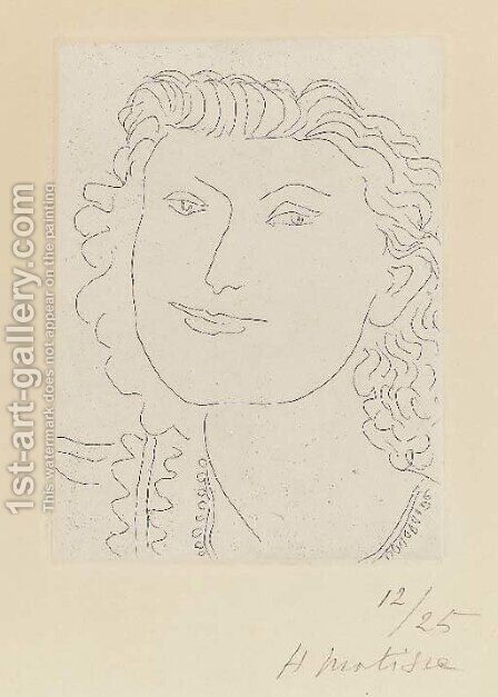 Visage souriant by Henri Matisse - Reproduction Oil Painting