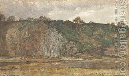 The crest of a hill by Henri-Joseph Harpignies - Reproduction Oil Painting
