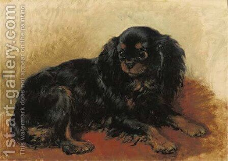 A prince Charles dog by Henriette Ronner-Knip - Reproduction Oil Painting