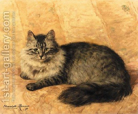Peter the Cat by Henriette Ronner-Knip - Reproduction Oil Painting