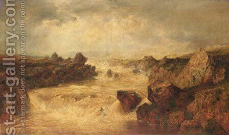 Mountain Flood, County Mayo, Ireland by Henry Albert Hartland - Reproduction Oil Painting