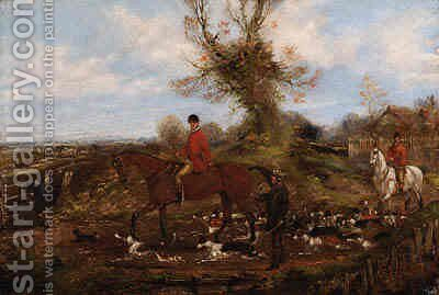 Beggining the Hunt by Henry Jnr Alken - Reproduction Oil Painting