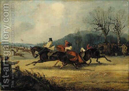 The Wakefield Steeplechase, 1849 by Henry Thomas Alken - Reproduction Oil Painting