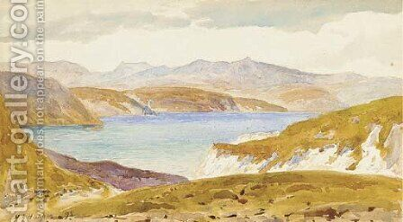 Sea of Tiberias, from Gadara by Henry Andrew Harper - Reproduction Oil Painting
