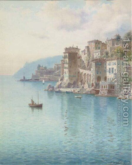 Villefranche, near Nice by Henry B. Wimbush - Reproduction Oil Painting