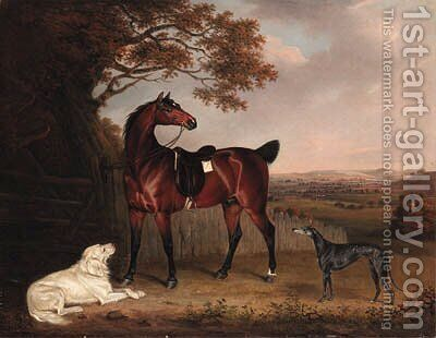 A Favorite Hunter of Robert Bower of Welham by Henry Bernard Chalon - Reproduction Oil Painting