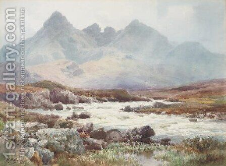 Sgurr nan Gillean, Isle of Skye by Henry B. Wimbush - Reproduction Oil Painting