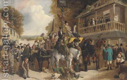 Cheering the new member by Henry Woollett - Reproduction Oil Painting