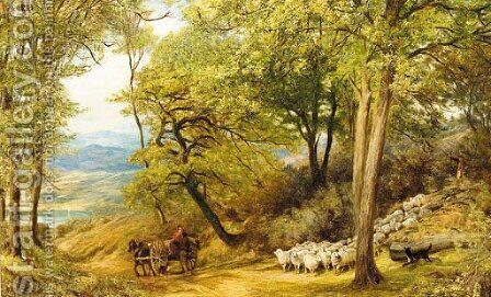 Down from the mountain by Henry Clarence Whaite - Reproduction Oil Painting