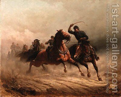 Rush to the front by Henry Collins Bispham - Reproduction Oil Painting