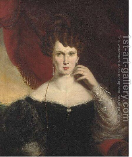Portrait of a lady by Henry Daniel Thielke - Reproduction Oil Painting