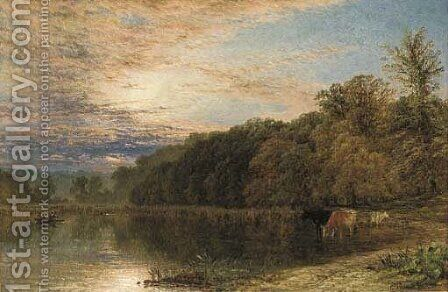 Pool in Sutton Park, near Birmingham by Henry Thomas Dawson - Reproduction Oil Painting