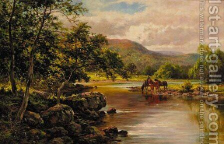 On the Lledr river, near Wales by Henry Hillier Parker - Reproduction Oil Painting