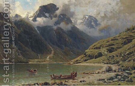 Naero Fjord by Henry Enfield - Reproduction Oil Painting