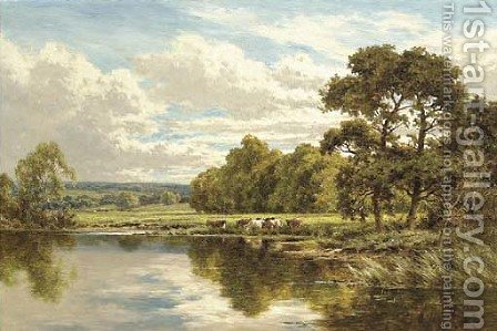 On the banks of the Thames at Streatley by Henry Hillier Parker - Reproduction Oil Painting
