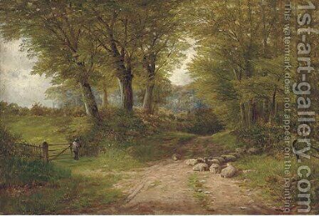 A lane near Dovedale by Henry Hadfield Cubley - Reproduction Oil Painting