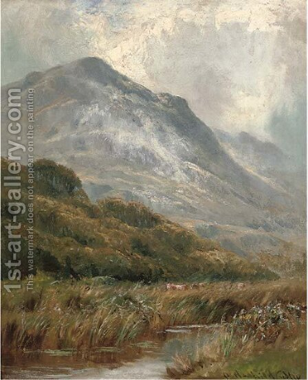 Morning mists, Barmouth by Henry Hadfield Cubley - Reproduction Oil Painting