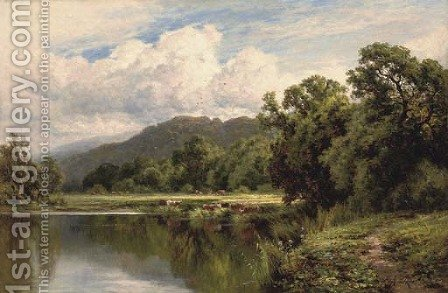 Sleeping waters near Henley on Thames by Henry Hillier Parker - Reproduction Oil Painting