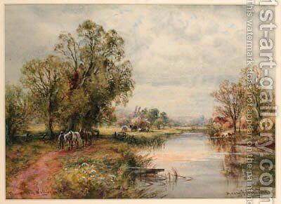 Thames near Wallingford by Henry John Kinnaird - Reproduction Oil Painting