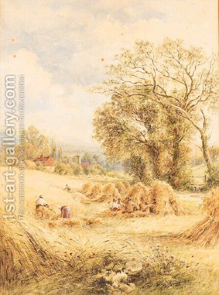 A Sussex Cornfield 2 by Henry John Kinnaird - Reproduction Oil Painting