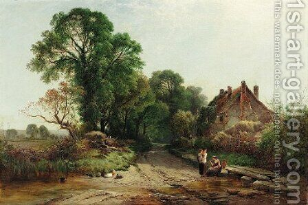 An English lane by Henry John Boddington - Reproduction Oil Painting