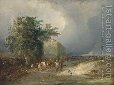 The haycart by Henry John Boddington - Reproduction Oil Painting