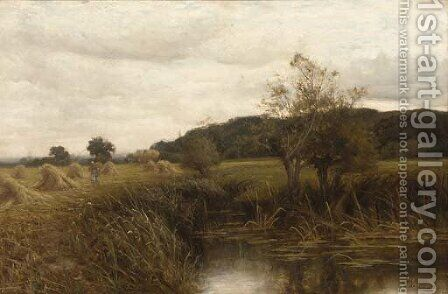 A cornfield near Wargrave on Thames by Henry John Kinnaird - Reproduction Oil Painting