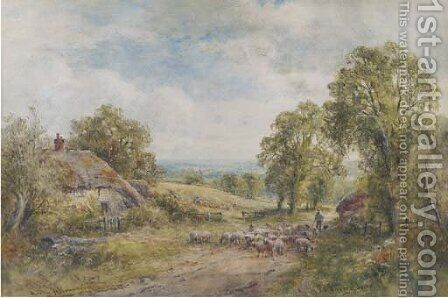 A Sussex lane by Henry John Kinnaird - Reproduction Oil Painting