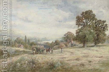 View near Ashington, Sussex by Henry John Kinnaird - Reproduction Oil Painting