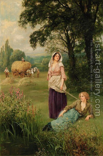Haymaking by Henry John Yeend King - Reproduction Oil Painting