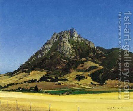 Bishop's Peak, California by Henry Joseph Breuer - Reproduction Oil Painting