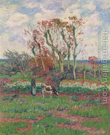 Finistere, l'automne by Henri Moret - Reproduction Oil Painting