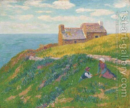 Jour de calme by Henri Moret - Reproduction Oil Painting