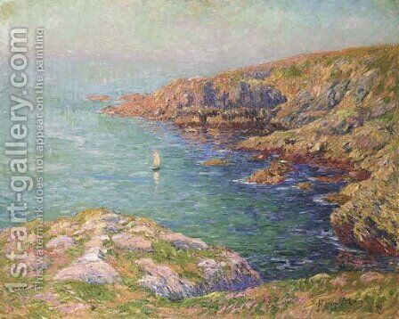 Le calme, cote de Bretagne by Henri Moret - Reproduction Oil Painting