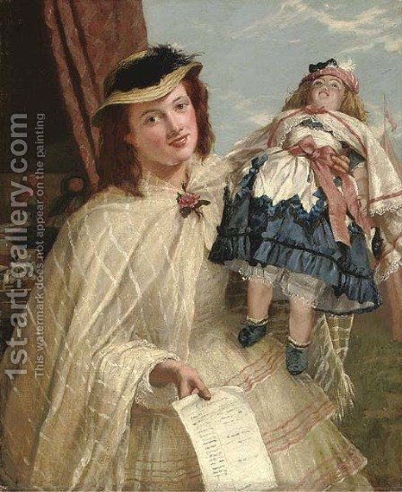 The doll by Henry Nelson O'Neil - Reproduction Oil Painting