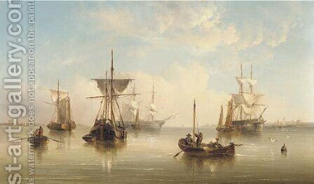 A peaceful anchorage on the East coast by Henry Redmore - Reproduction Oil Painting