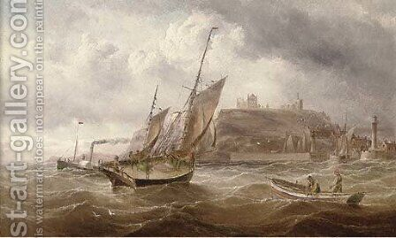 Running into Whitby on the tide by Henry Redmore - Reproduction Oil Painting