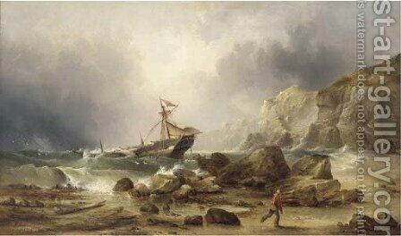 The stranding by Henry Redmore - Reproduction Oil Painting