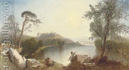 Sunshine on Llanberis, Wales by Henry Shirley - Reproduction Oil Painting
