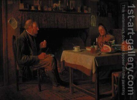 The evening meal by Henry Spernon Tozer - Reproduction Oil Painting