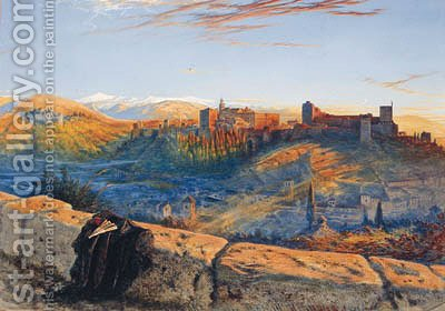 The Alhambra from the Albycin by Henry Stanier - Reproduction Oil Painting