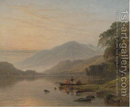 Ullswater by Henry Thomas Dawson - Reproduction Oil Painting