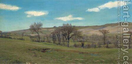 April afternoon by Henry William Banks Davis, R.A. - Reproduction Oil Painting