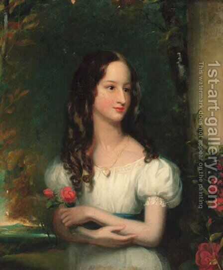 Portrait of Merelina Tindal by Henry William Pickersgill - Reproduction Oil Painting