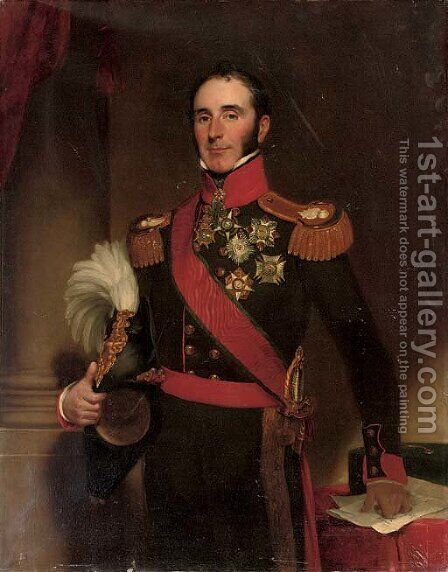 Portrait of Sir John Conroy by Henry William Pickersgill - Reproduction Oil Painting