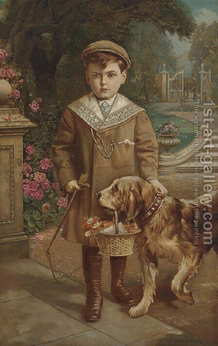 The young gentleman by Herbert H. Harley - Reproduction Oil Painting