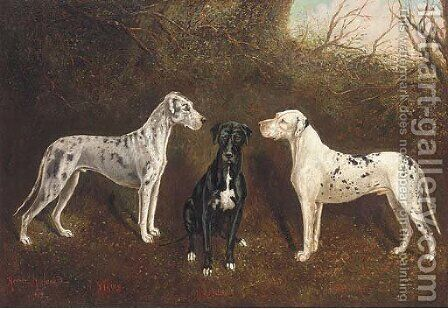 The Great Danes by Herbert Jones - Reproduction Oil Painting