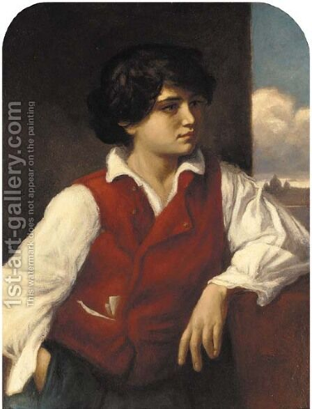 A young Italian boy by Herbert Louther Wilson - Reproduction Oil Painting